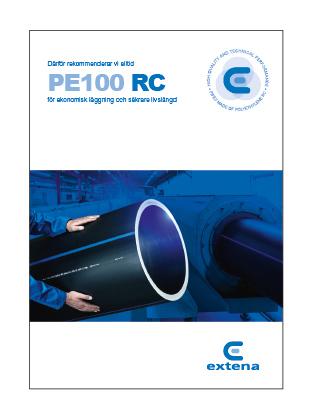 Extena Broschyr Tryckrör polyeten PE100 RC